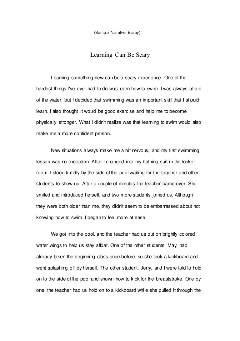008 Sample Narrative Essay Samplenarrativeessay Lva1 App6891 Thumbnail Wondrous Personal Middle School Apa Format Full