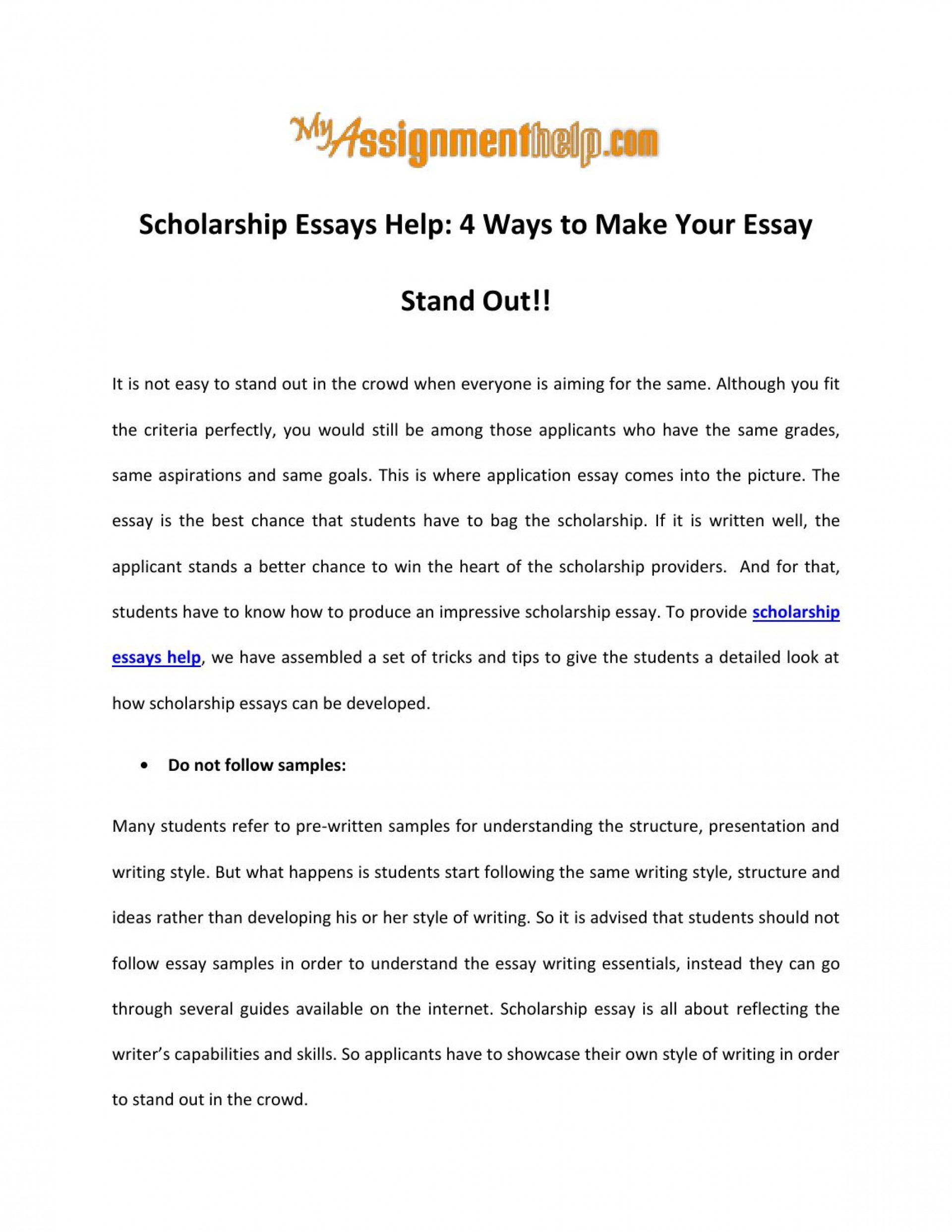 008 Scholarship Essays Help Ways To Make Your Essay Stand Out By Tips For Writing Winning P Effective Singular Gilman Psc Goldwater 1920