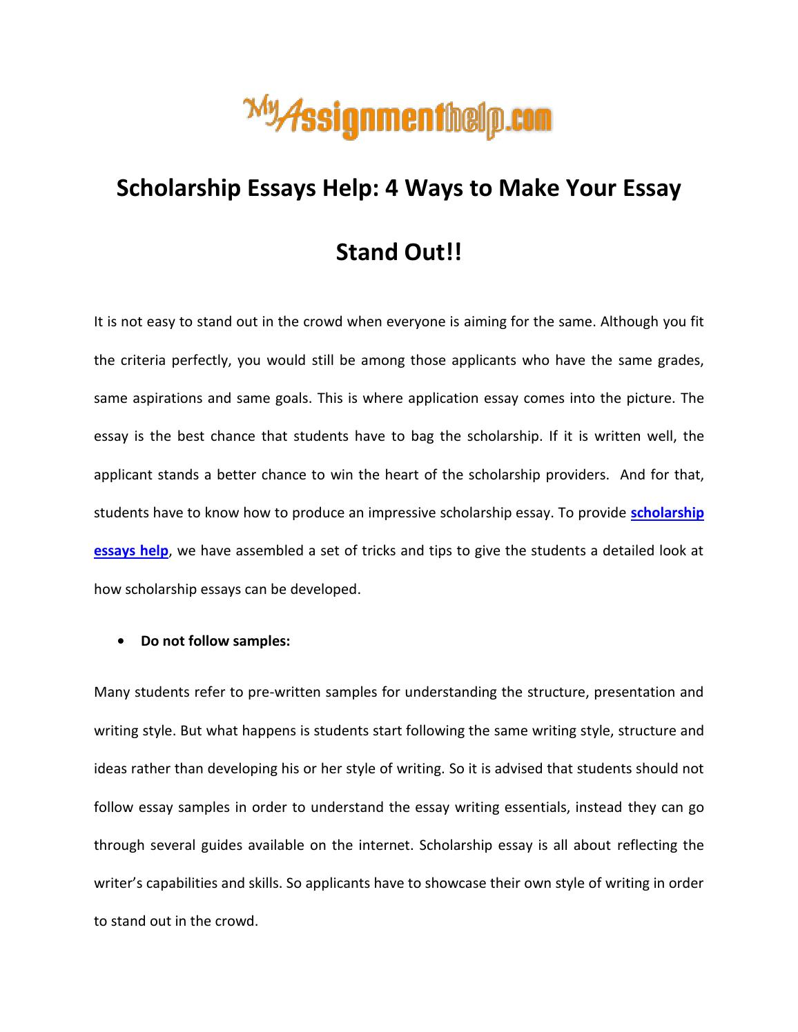 008 Scholarship Essays Help Ways To Make Your Essay Stand Out By Tips For Writing Winning P Effective Singular Gilman Psc Goldwater Full