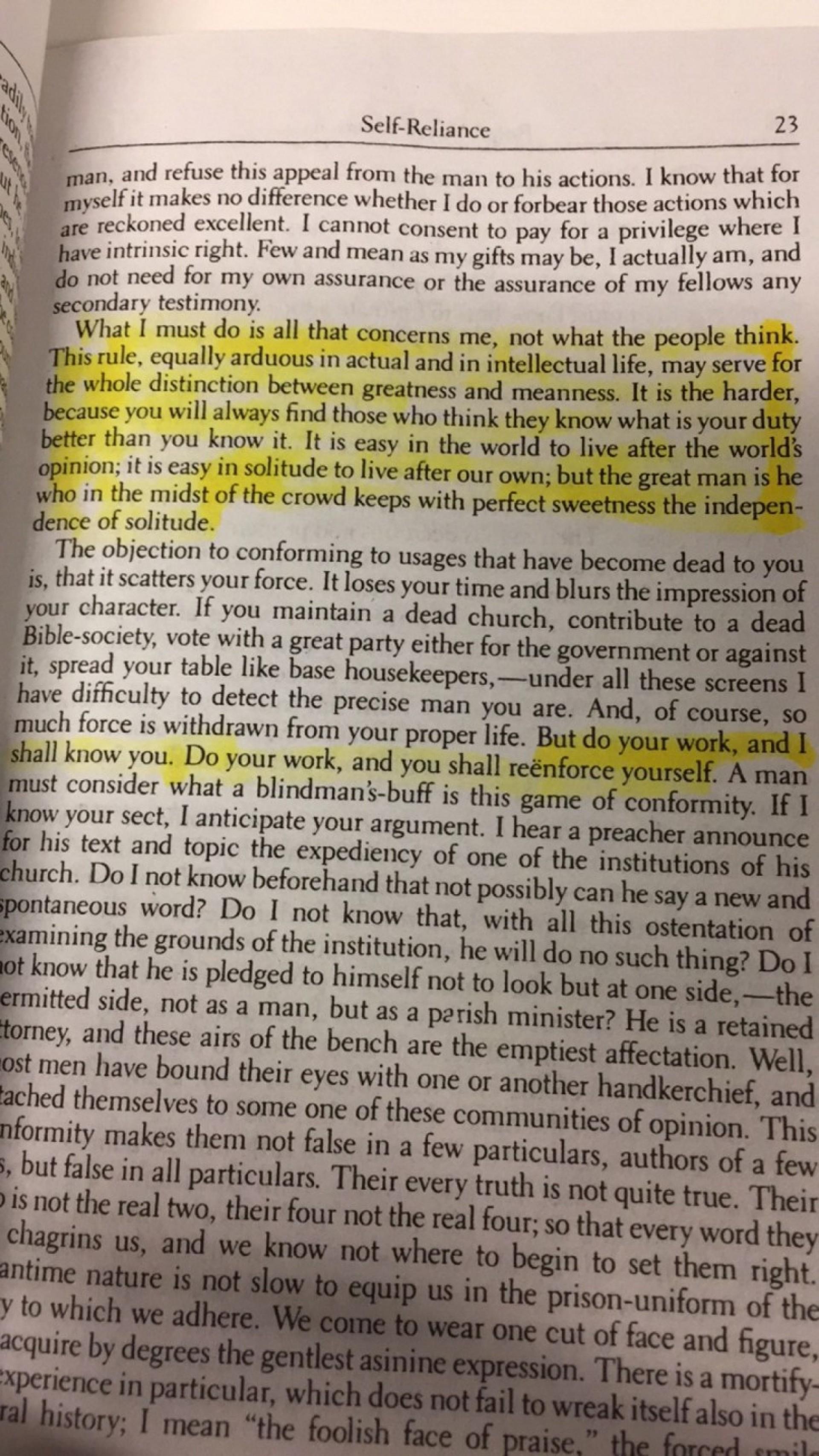 008 Self Reliance By Ralph Waldo Emerson Summaryresize8062c1433 Essay Staggering Summary Translated Into Modern English Analysis 1920