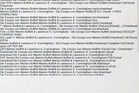 008 Source Die Essays Von Warren Buffett Essay Archaicawful Das Buch Für Investoren Pdf Und Unternehmer