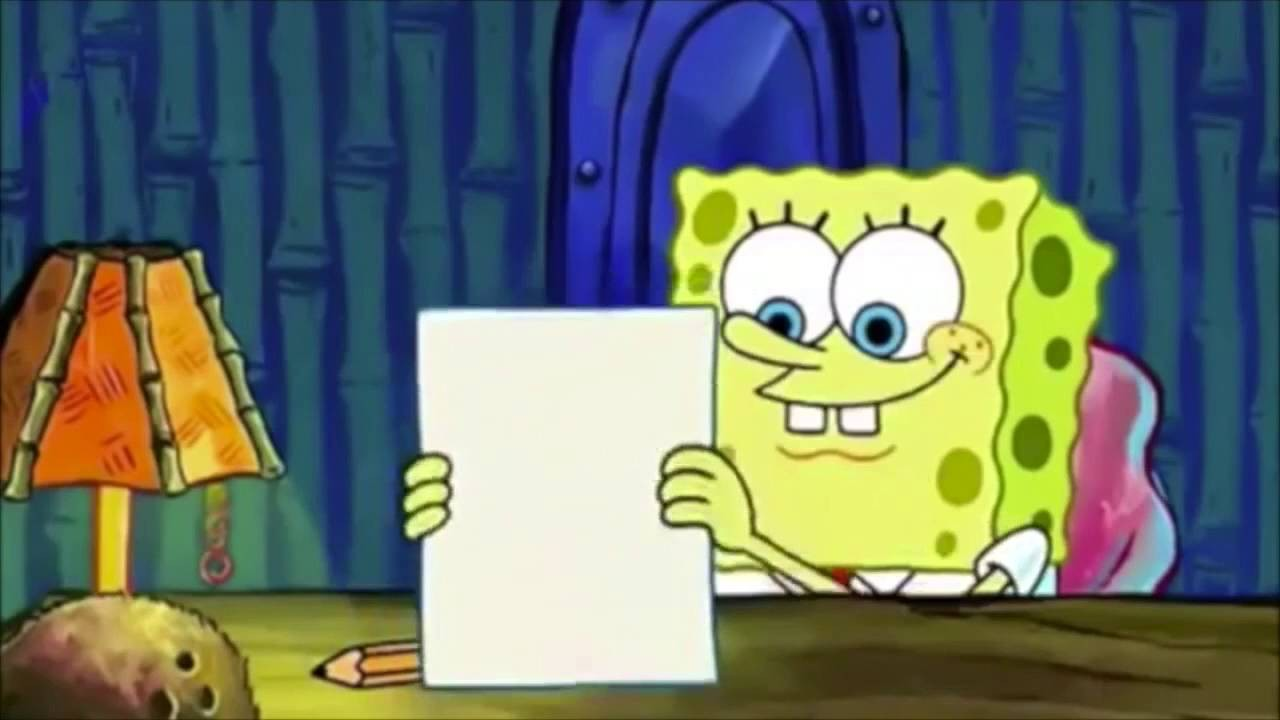 008 Spongebob Writing Essay Gif Example An By Squarepants Youtube Archaicawful Full