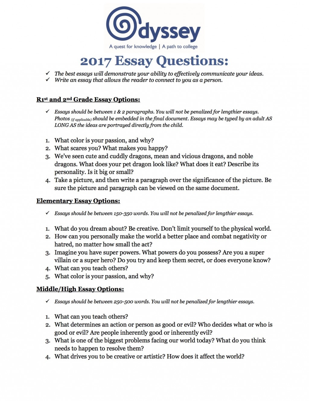 008 Student Essay Example The Odyssey Topics Greek Family How To Good Awesome Template Prompts Bad Examples Large
