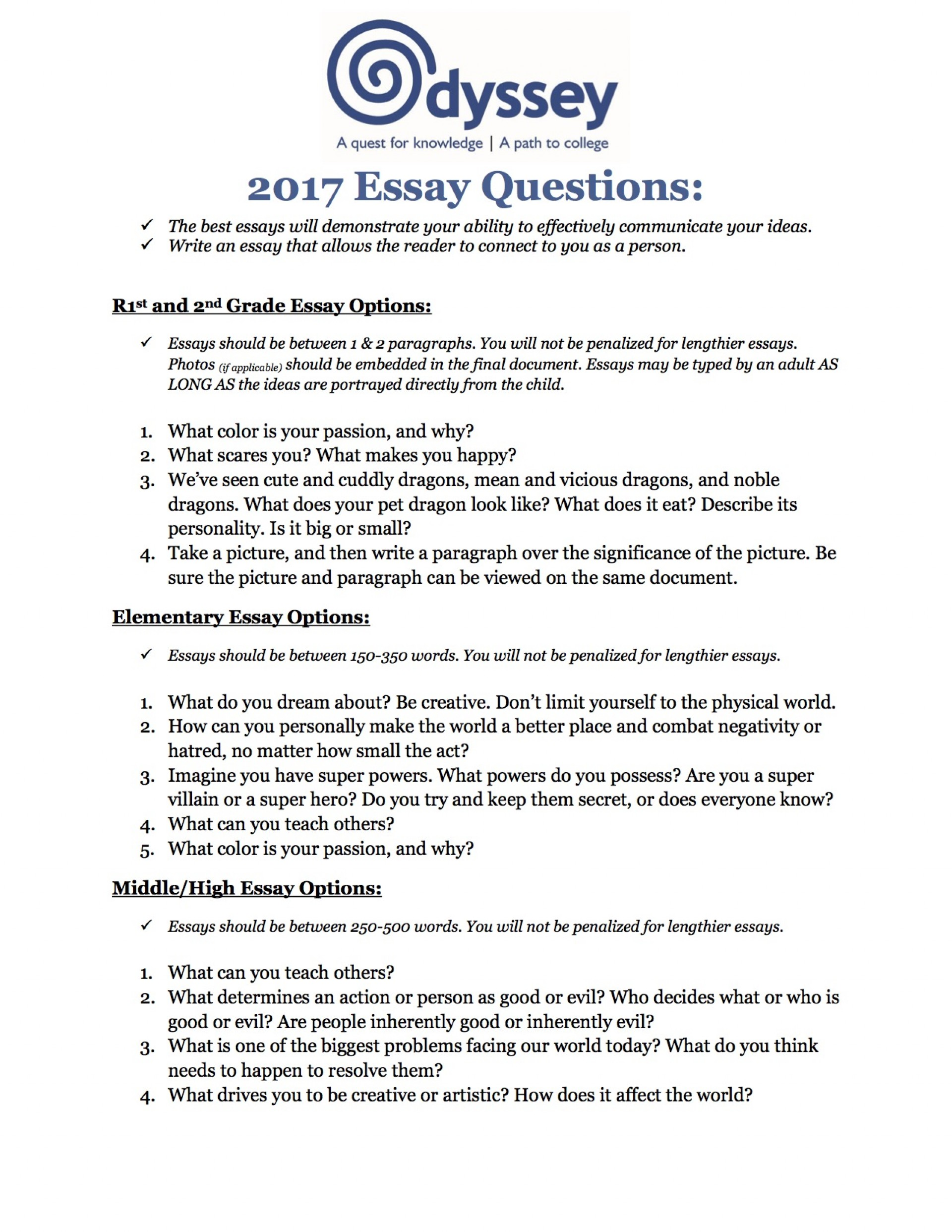 008 Student Essay Example The Odyssey Topics Greek Family How To Good Awesome Template Prompts Bad Examples 1920