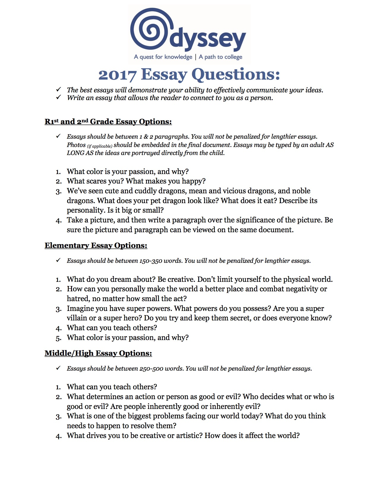 008 Student Essay Example The Odyssey Topics Greek Family How To Good Awesome Medical Competitions 2017 Database Template Full