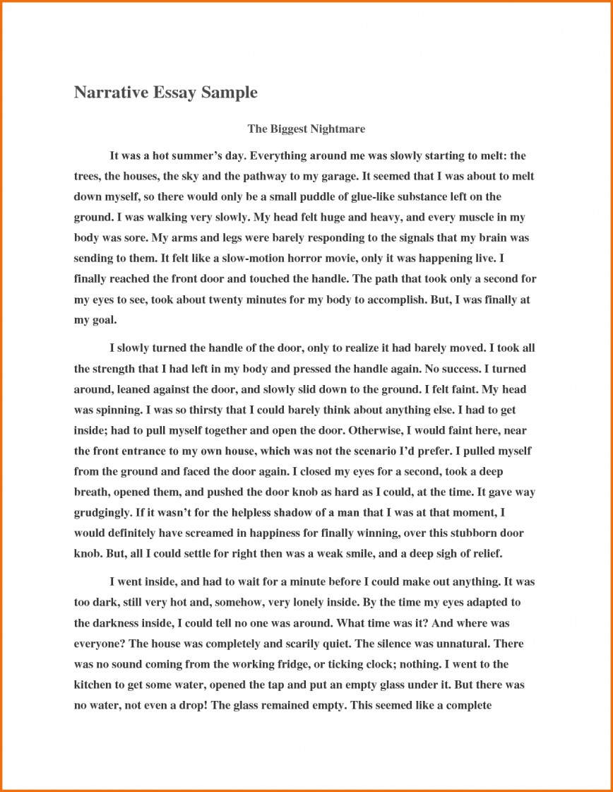 008 Tell Me About Yourself Essay Writing Example Sample Essays