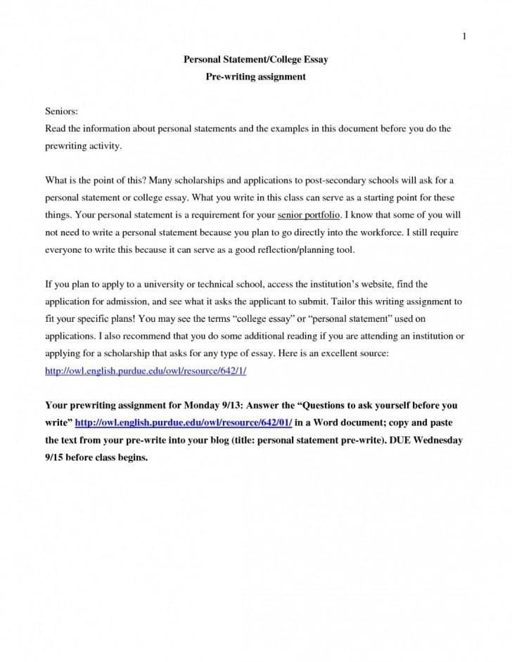 Florida state admissions essay