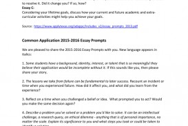 009 008198809 1 Essay Example Common Application Prompts Surprising 2015 App