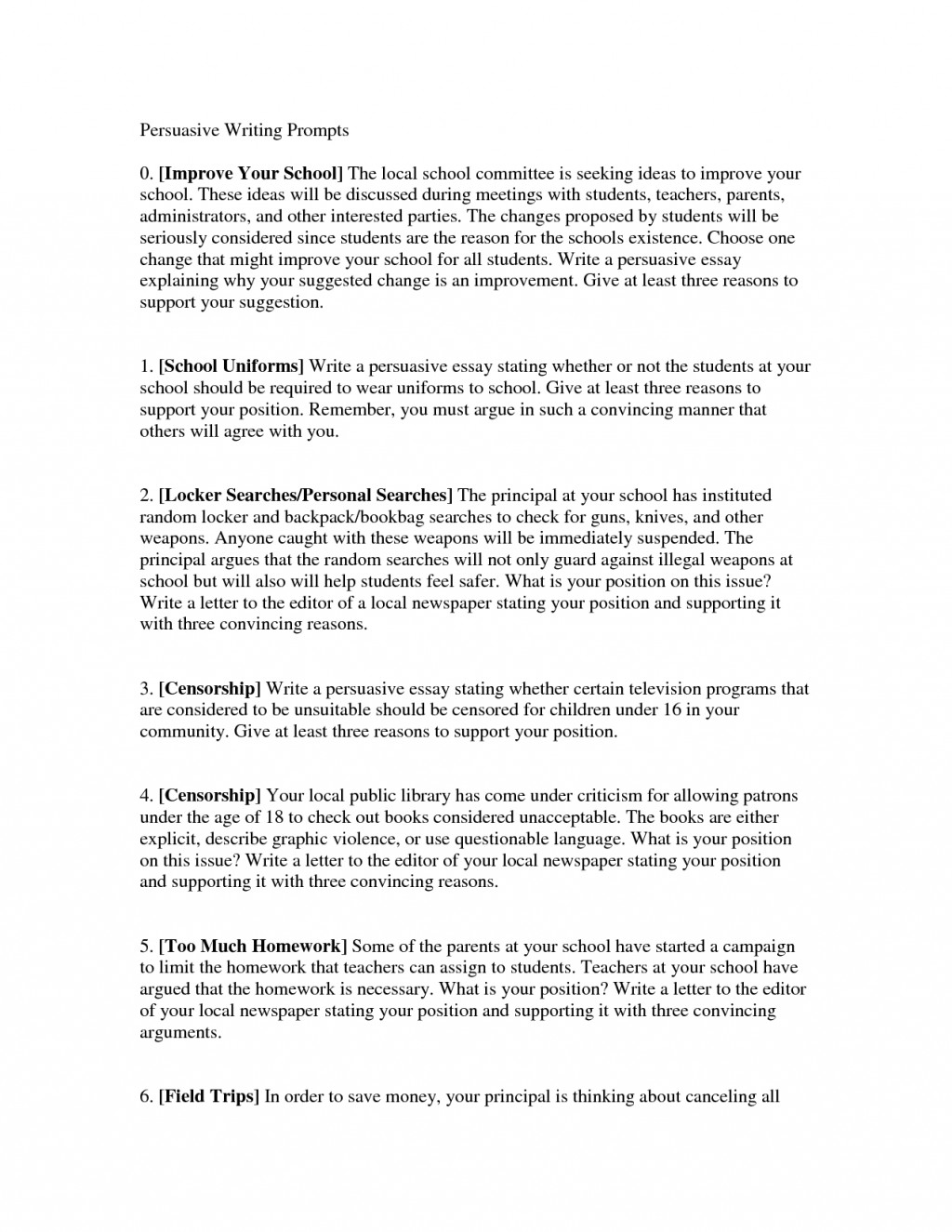 009 6th Grade Essay Topics Example Alluring Sixth Writing Prompts Persuasive In 7th Madrat Surprising Reflective Narrative Science Large