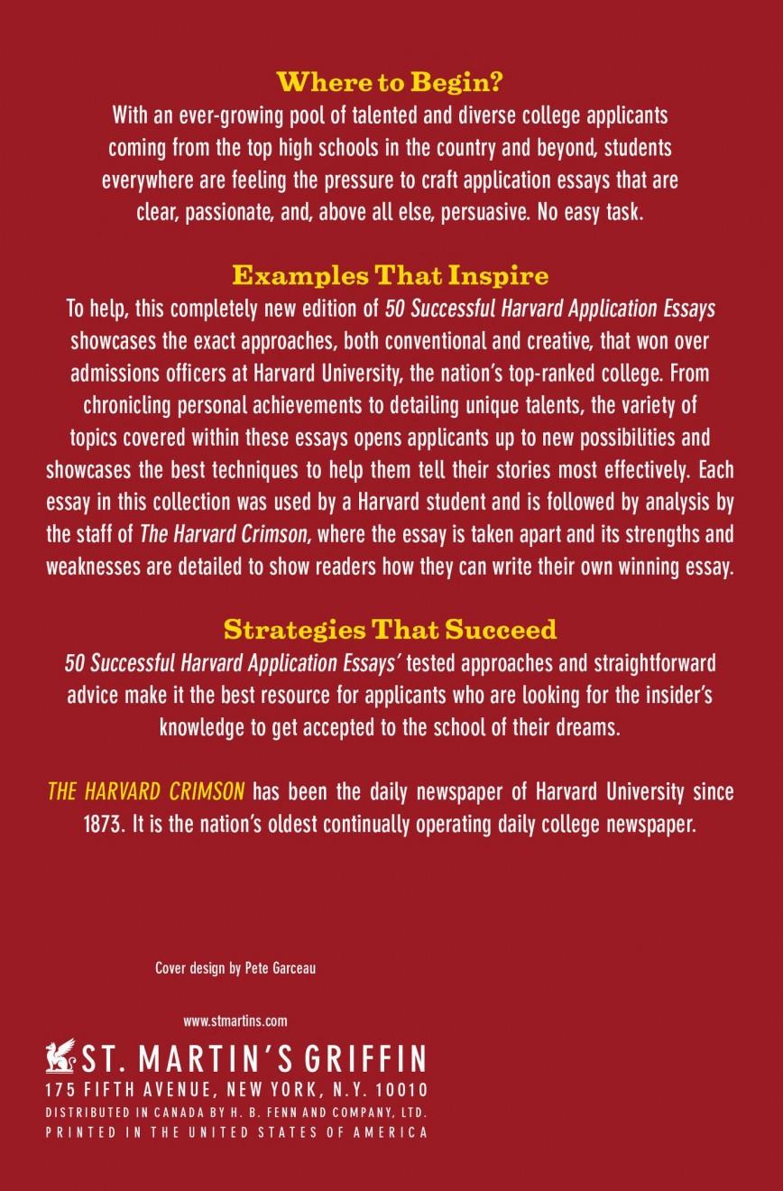009 815kp6cfuhl Harvard Acceptance Essays Essay Frightening 50 Successful Application Pdf Free 2017 3rd Edition 868