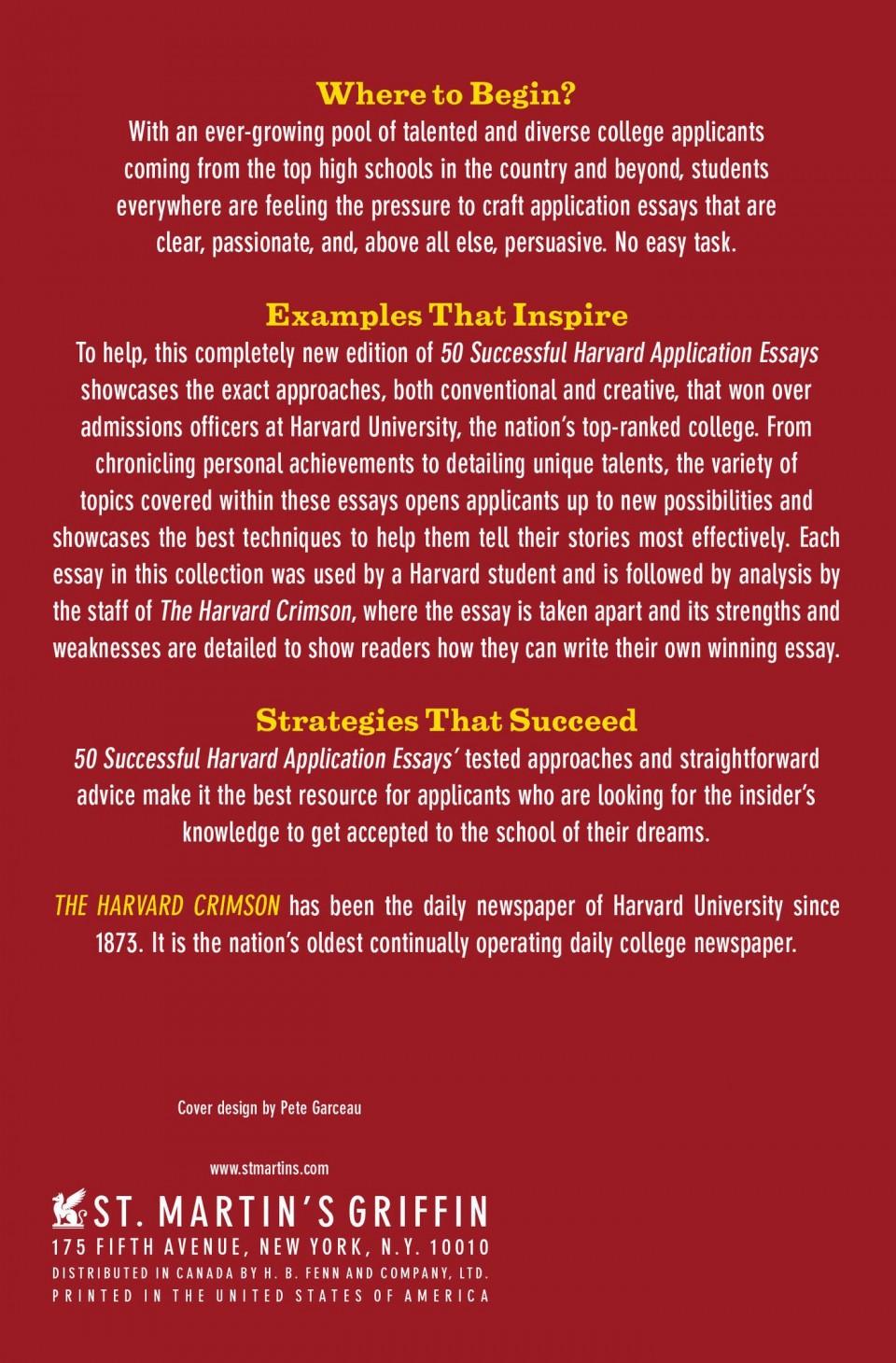 009 815kp6cfuhl Harvard Acceptance Essays Essay Frightening 50 Successful Application Pdf Free 2017 3rd Edition 960
