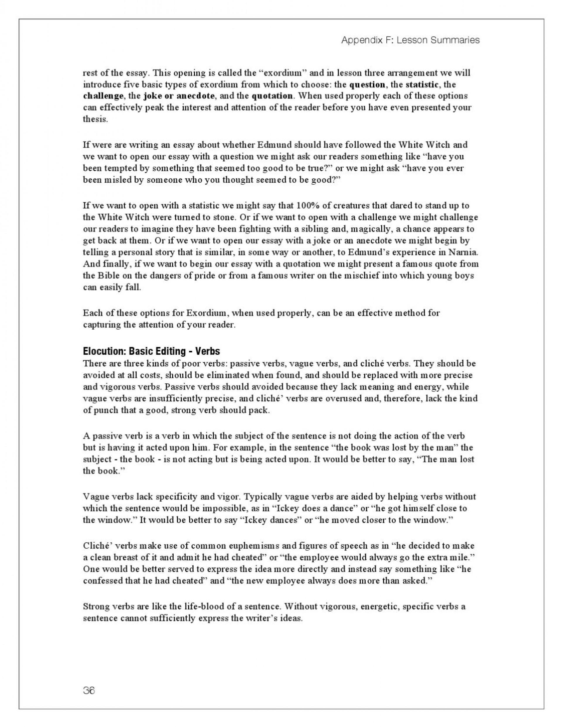 009 Anecdote Essay Example Page 46 Unusual College Examples Sample 1920