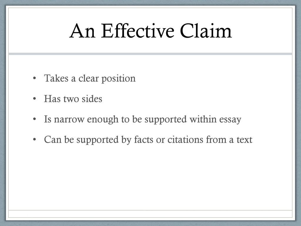 009 Aneffectiveclaimtakesaclearpositionhastwosides An Effective Claim For Argumentative Essay Is Wondrous Which Statement Example Of Brainly Quizlet Large