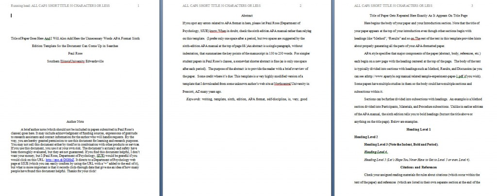009 Apa Format Essay Template Example Paper Stupendous Papers Examples Word 2010 Large