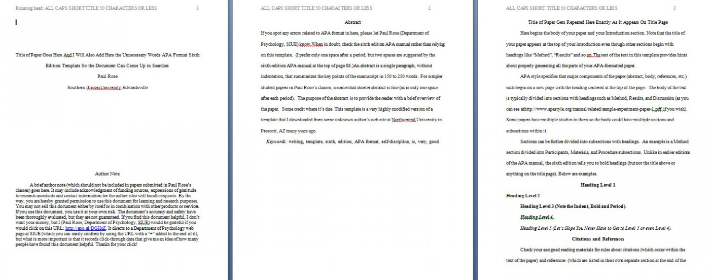 009 Apa Format Essay Template Example Paper Stupendous Short Sample Title Page 6th Edition 1400