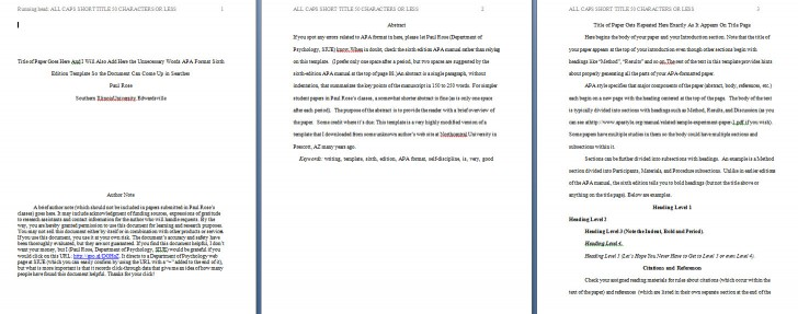 009 Apa Format Essay Template Example Paper Stupendous Short Sample Title Page 6th Edition 728