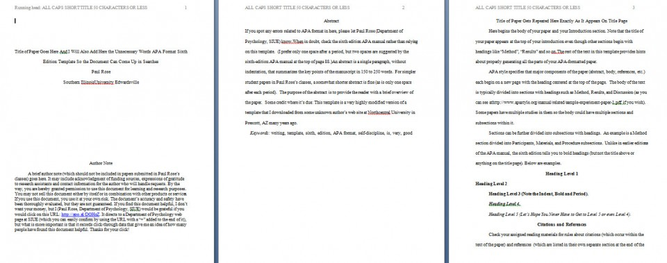 009 Apa Format Essay Template Example Paper Stupendous Short Sample Title Page 6th Edition 960