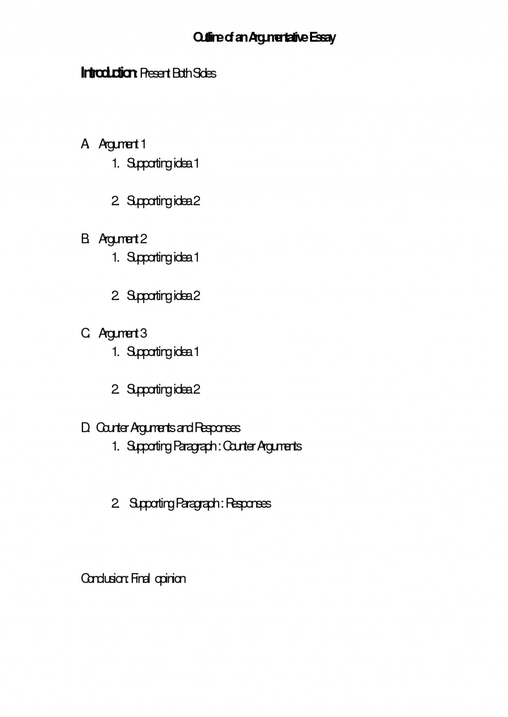009 Argument Essay Outline Debate Goal Blockety Co Z4bas Argumentative Format Structure Mla Remarkable Template Example Pdf Large