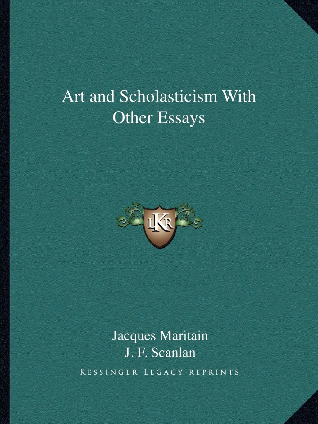 009 Art And Scholasticism With Other Essays Essay Example Impressive Large