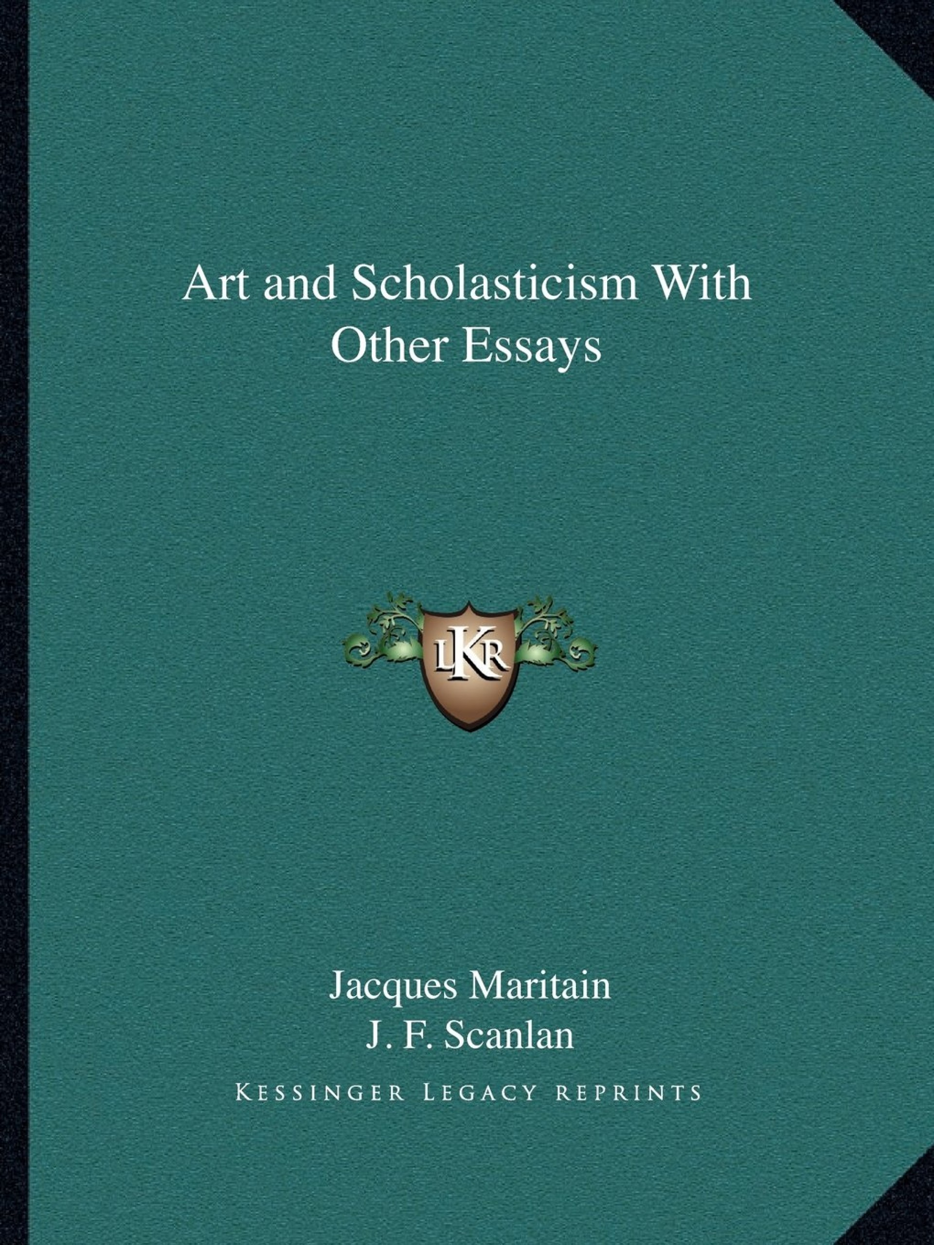009 Art And Scholasticism With Other Essays Essay Example Impressive 1920