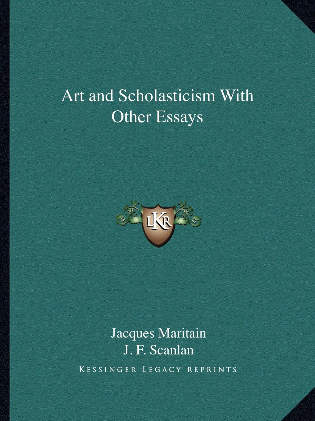 009 Art And Scholasticism With Other Essays Essay Example Impressive Full