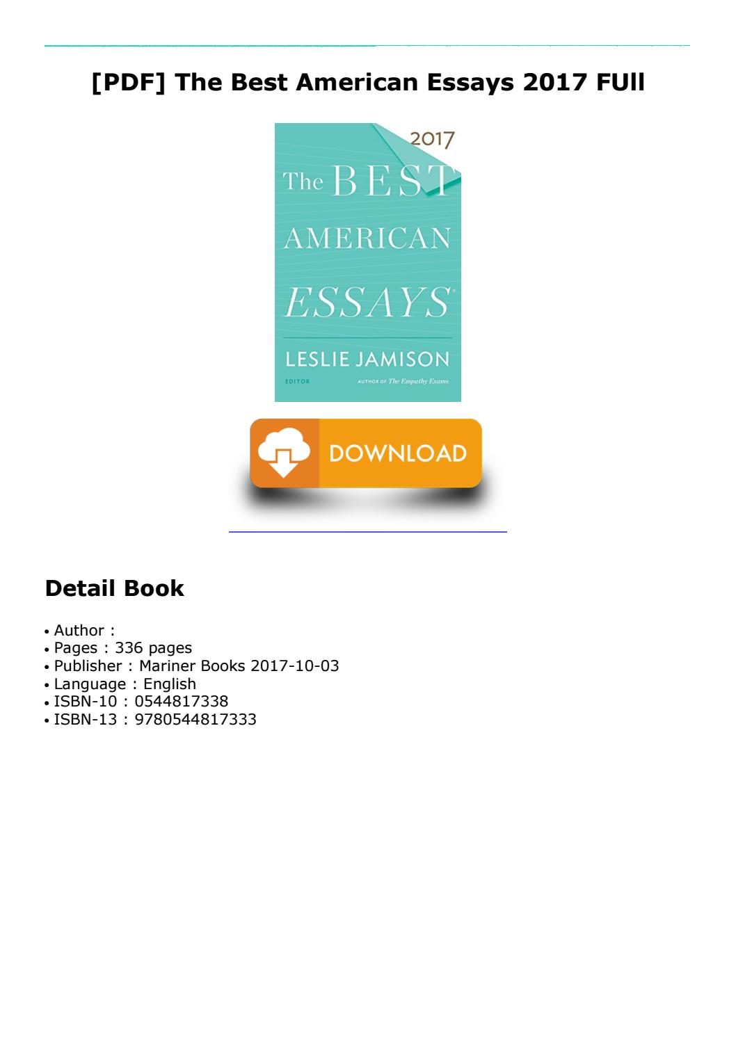 009 Best American Essays Page 1 Essay Astounding 2017 Submissions Pdf Free Download Full