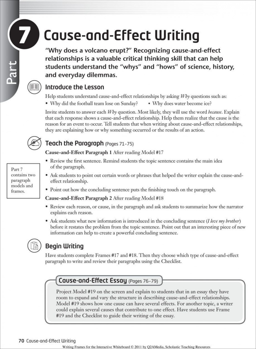009 Cause And Effect Essays Essay Unique On Divorce Writing Prompts For Middle School Large