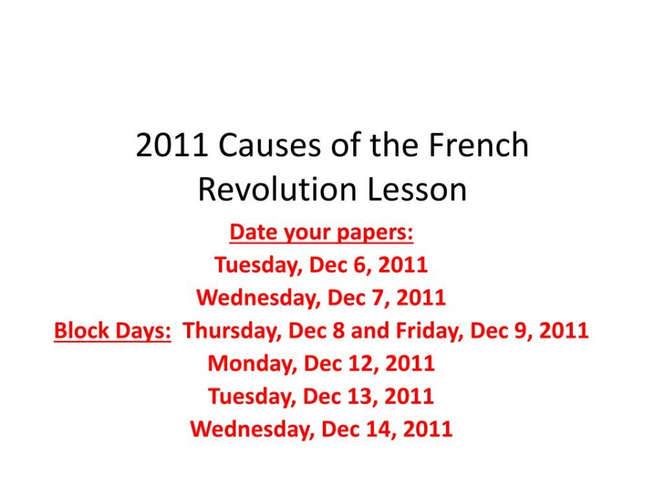 009 Causes Of The French Revolution Essay Exampleesson Best Conclusion Economic Introduction 960