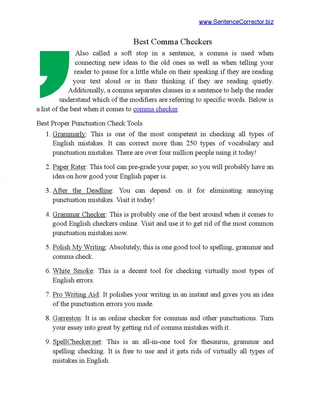 009 Check Essay Example Page 1 Archaicawful My For Punctuation Errors Free On Turnitin Grammar Large