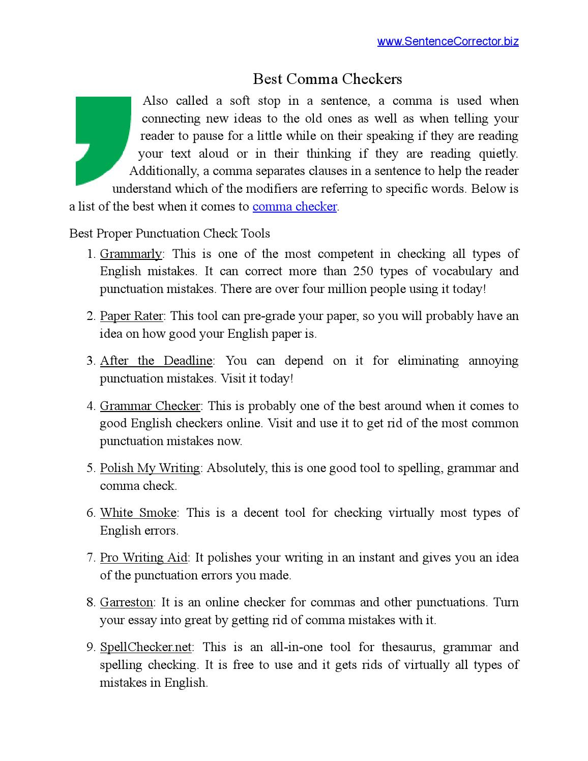 009 Check Essay Example Page 1 Archaicawful My For Punctuation Errors Free On Turnitin Grammar Full