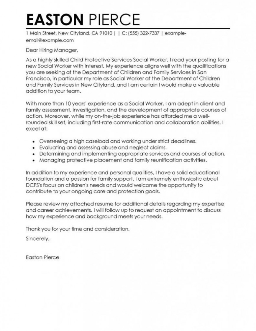 009 Child Protective Investigator Cover Letter Entry Level ...