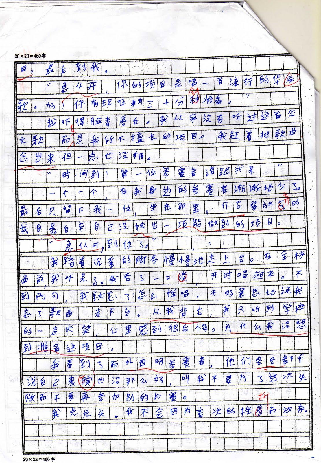 009 Chinese Essay Example Amazing Art Topics Vce Formats Sheet Full