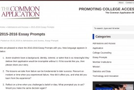 009 Common App Essays Prompts And Commentary All College Admission Essay Topics Screen Shot Format Applications Uchicago Fantastic 2015 2018-19 University Of Chicago Prompt 2014