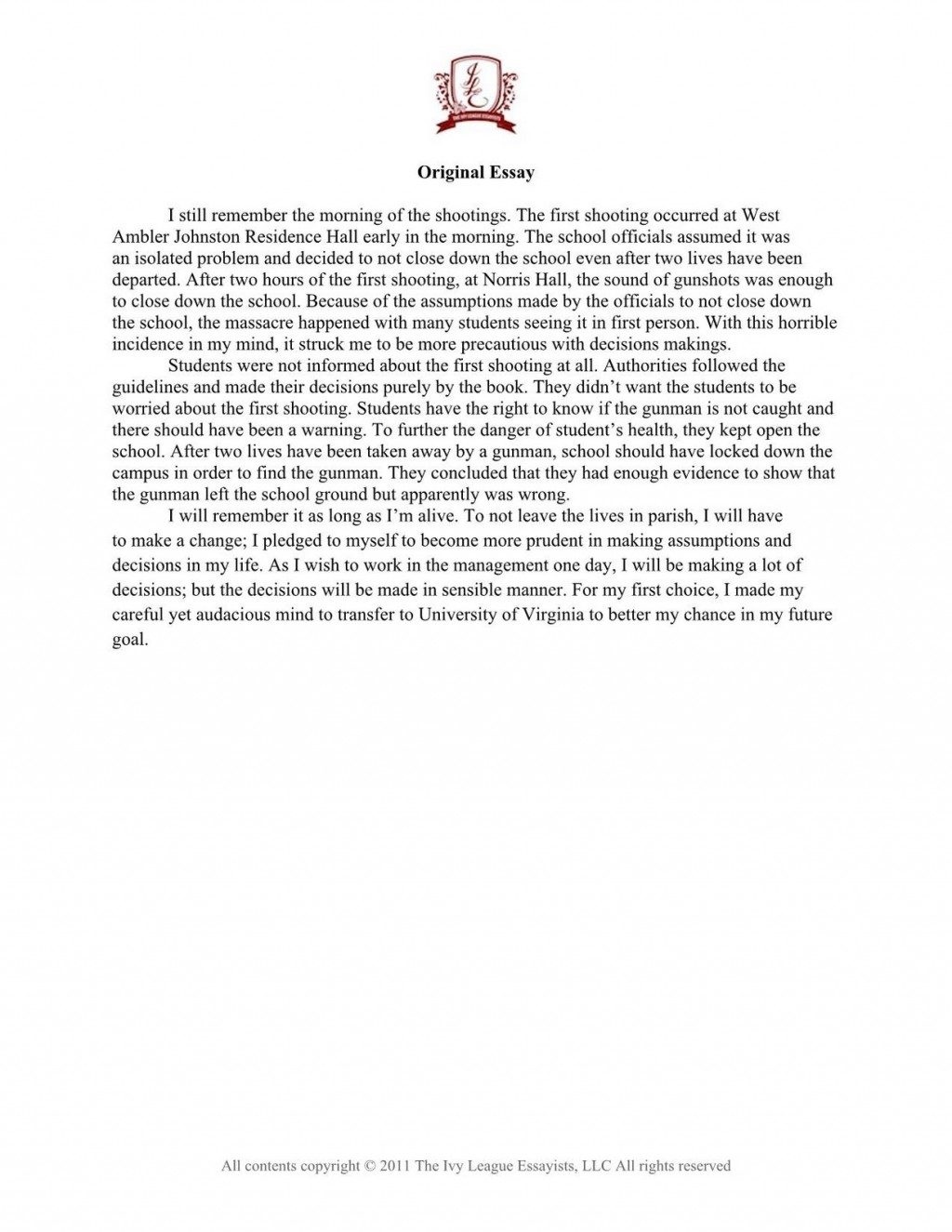 009 Copyoftransfercasesample 1 Essay Example College Transfer Awesome Examples Community Large