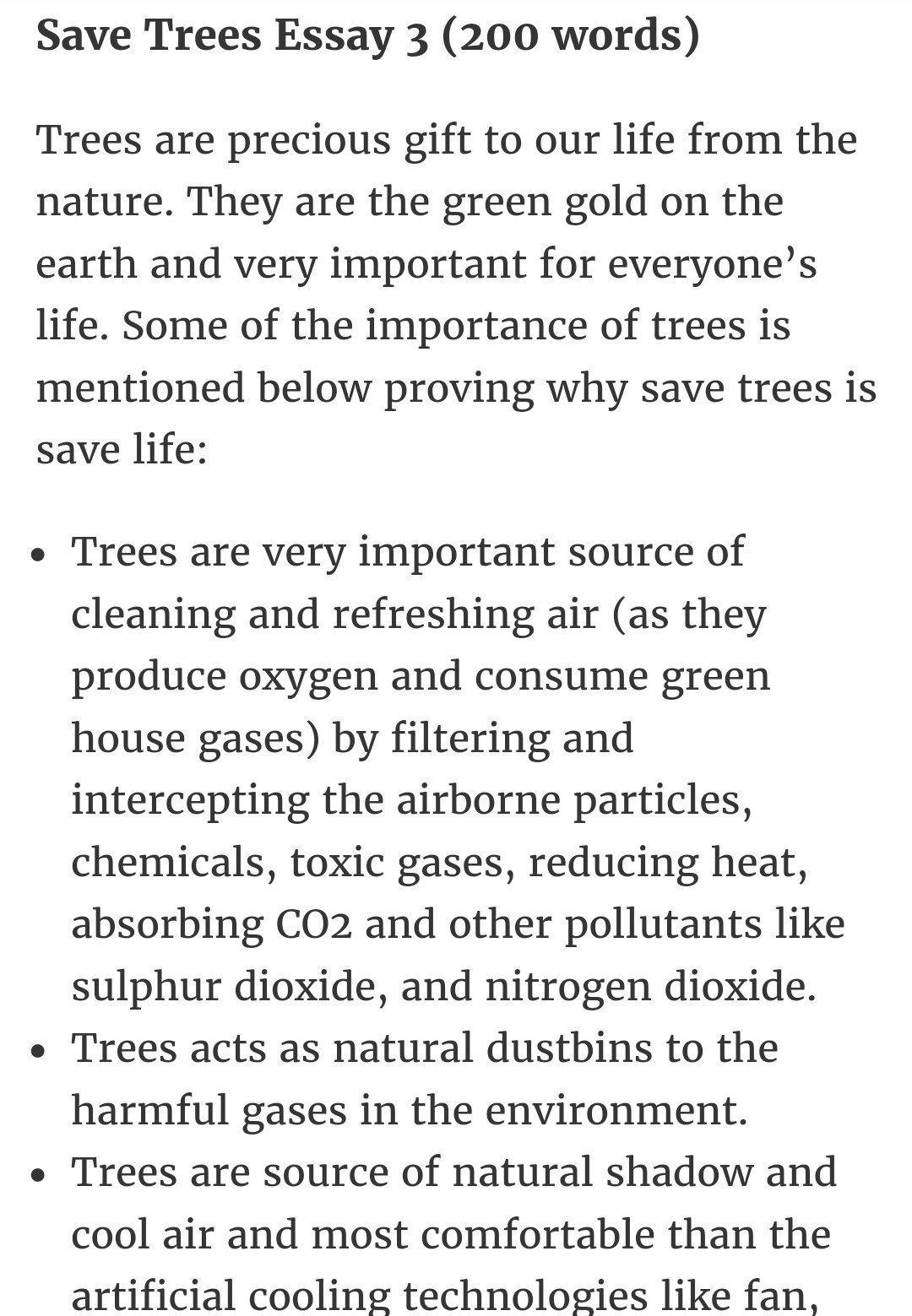 009 Description Of Trees For Essays Essay Striking Full