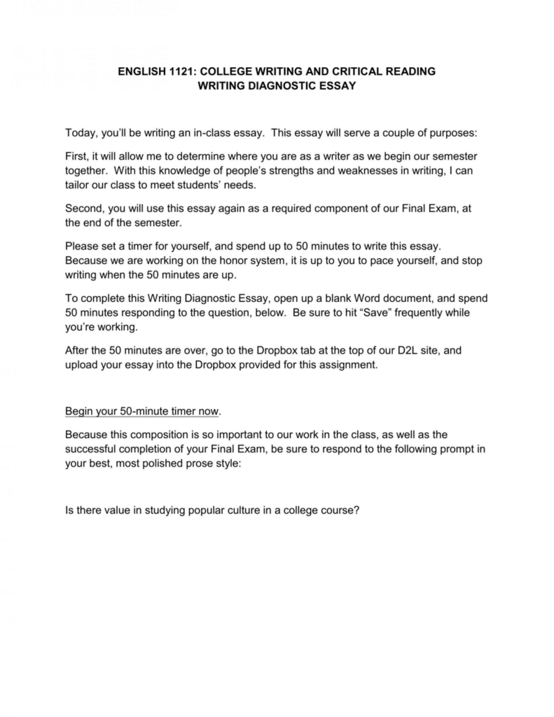 009 Diagnostic Essay 009173466 1 Wondrous Writing Prompts High School Topics Introduction 1920