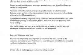 009 Diagnostic Essay 009173466 1 Wondrous Introduction Writing Prompts High School