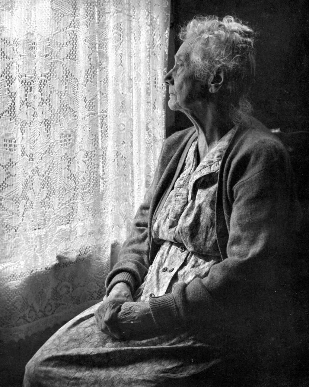 009 Elderly Woman Sitting Looking Out Window Chalmers Butterfield The Essay Stunning Of My Large