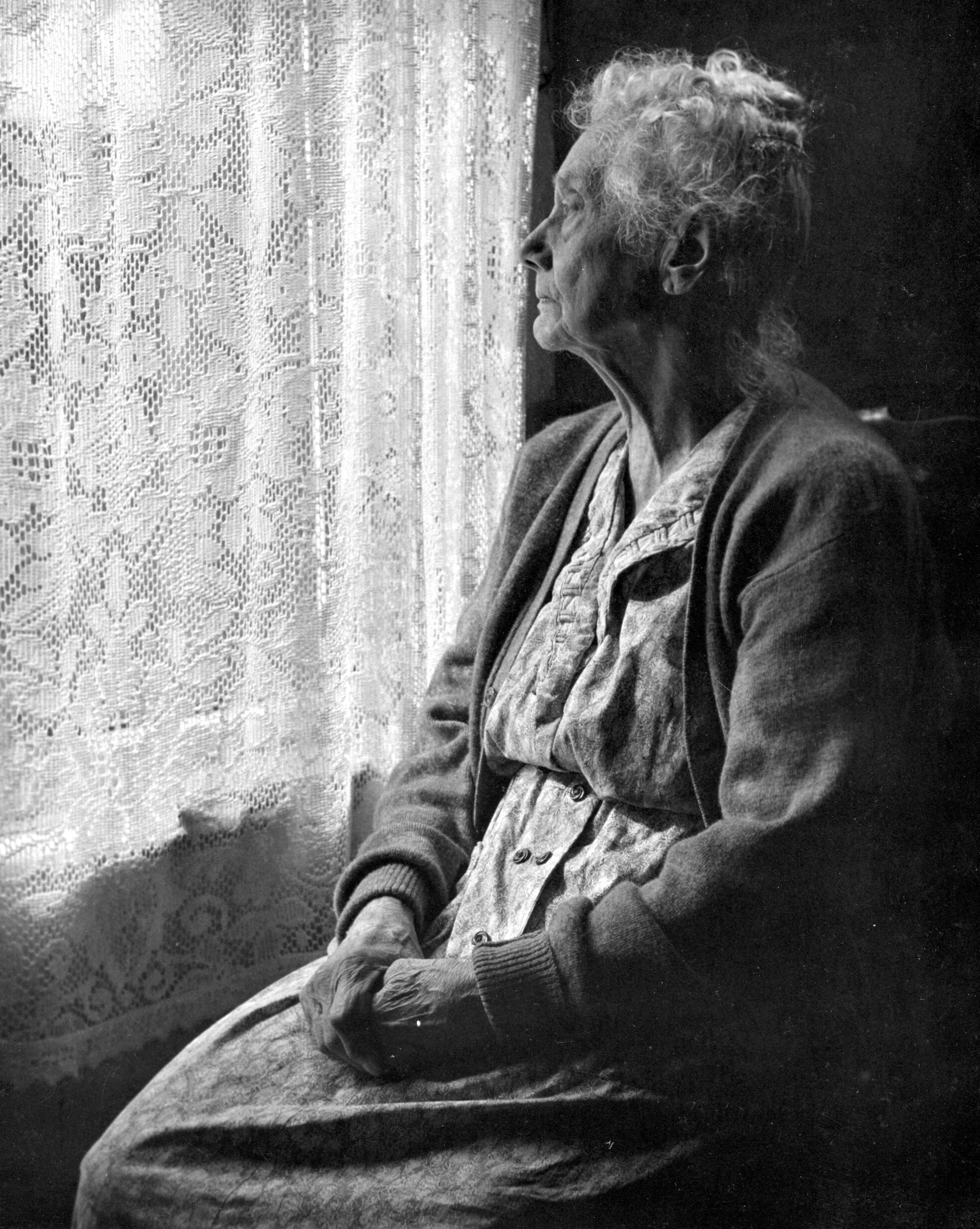 009 Elderly Woman Sitting Looking Out Window Chalmers Butterfield The Essay Stunning Of My Full