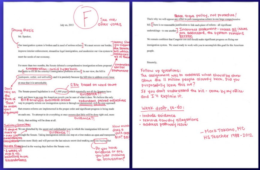 009 Essay Correction O Mark Takano Letter Facebook Rare Free Corrections For Literary Analysis Papers