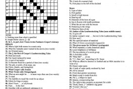 009 Essay Crossword Example Fascinating Byline Clue Short Puzzle Persuasive