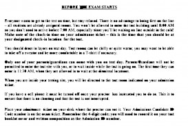 009 Essay Examinations Example Hunter Admissions Exam Instructions Incredible On Are Necessary Evils Board 320