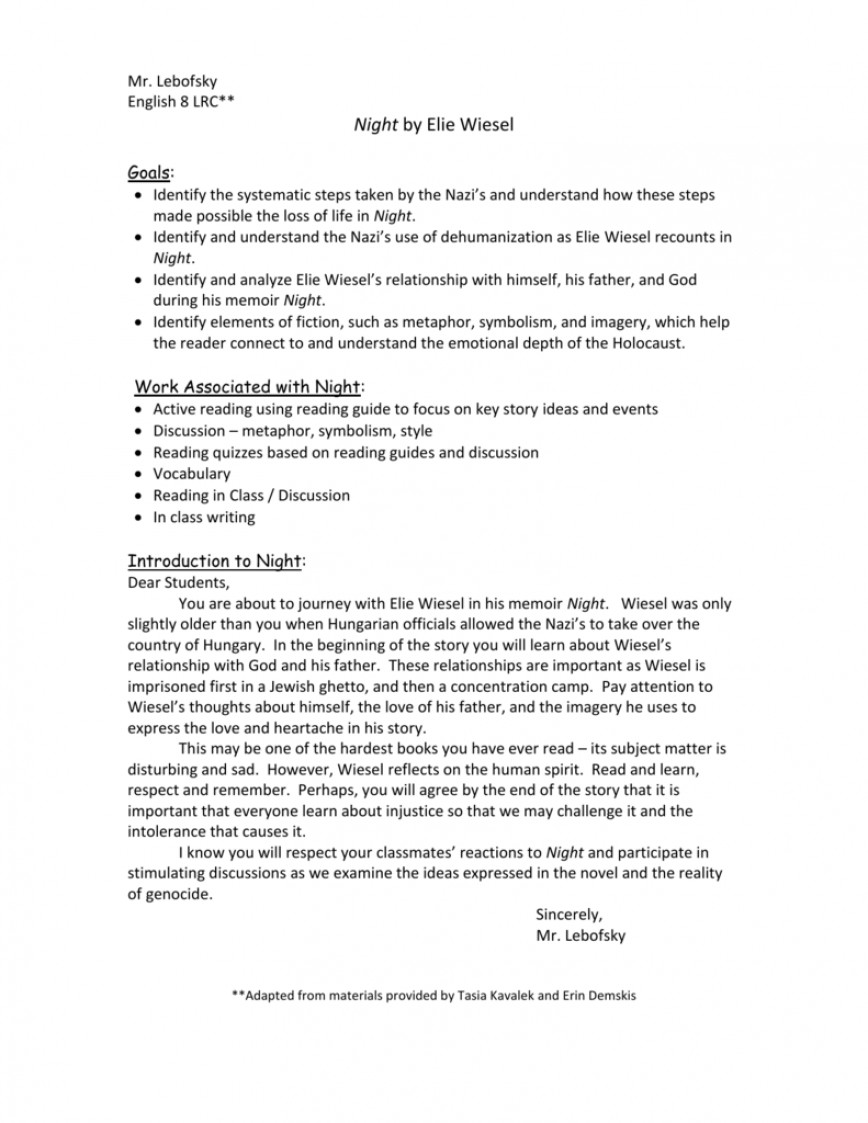 009 Essay Example 009753876 1 Night By Elie Fearsome Wiesel Topics Writing Prompts Examples 868