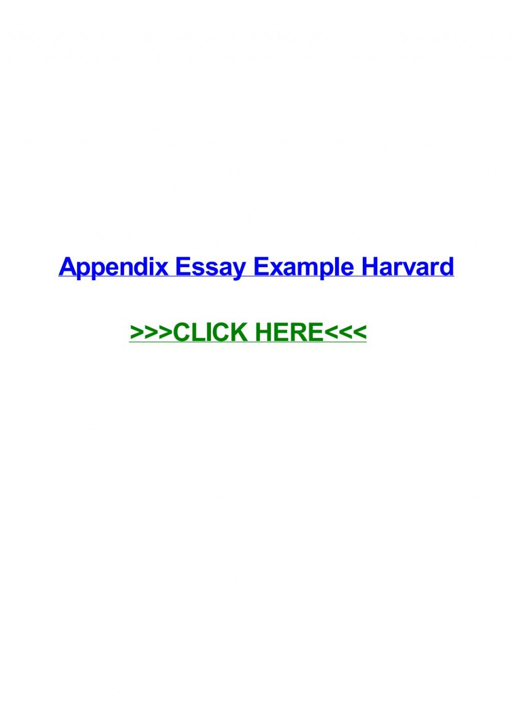 009 Essay Example Appendix Page 1 Remarkable Harvard Meaning History Large