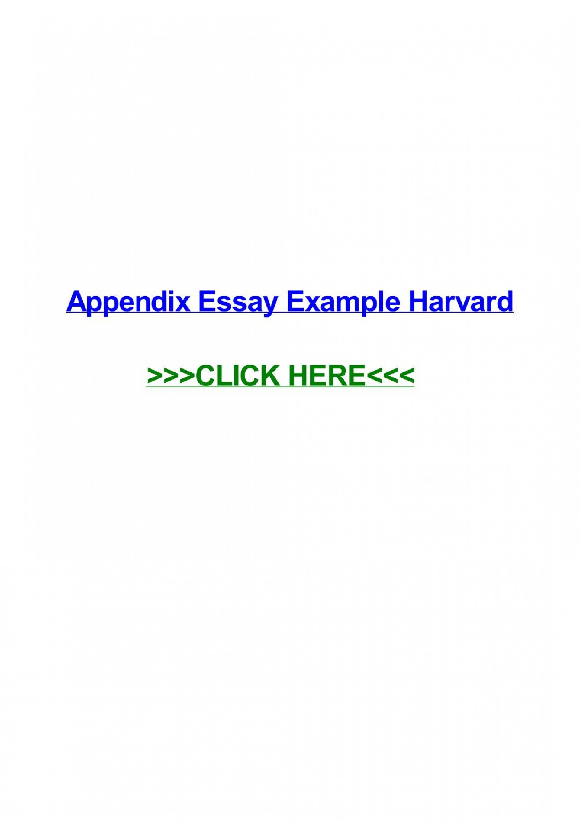 009 Essay Example Appendix Page 1 Remarkable Harvard Meaning History 1920