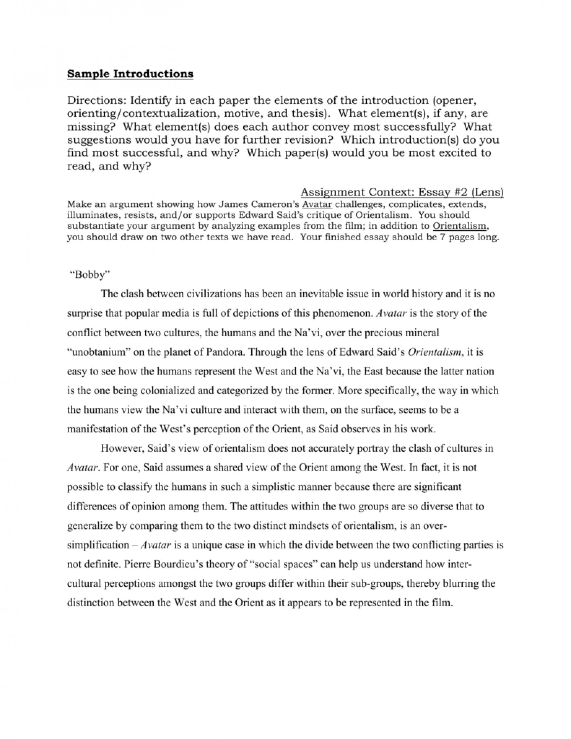 009 Essay Example Avatar Imperialism 009173125 1 Stirring 1920