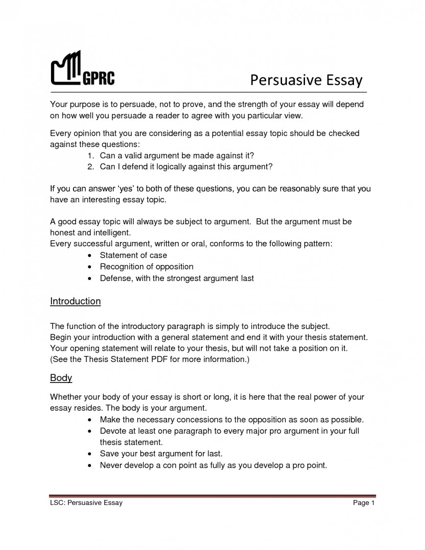 009 Essay Example Easy Topics For Persuasive Essays Goal Blockety Co Good 5th Graders Httm0 National Higher English Grade 6th High School Uk 9th One Magnificent Paragraph 868