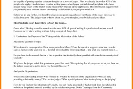 009 Essay Example Essays For Scholarships Business Opportunity Program You Don T Have To Write An Short Amazing College Easy