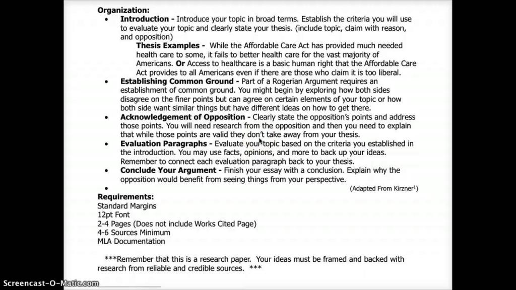009 Essay Example Evaluation Argument Topics Rogerian Formidable Good Large