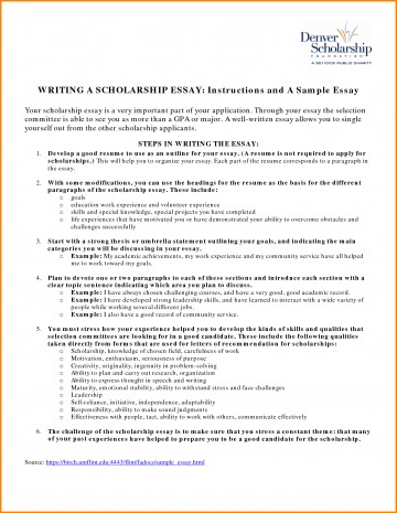 009 Essay Example Fair Resume Examples For Scholarships In Scholarship Sample Of Awful Essays High School Seniors 500 Words 360